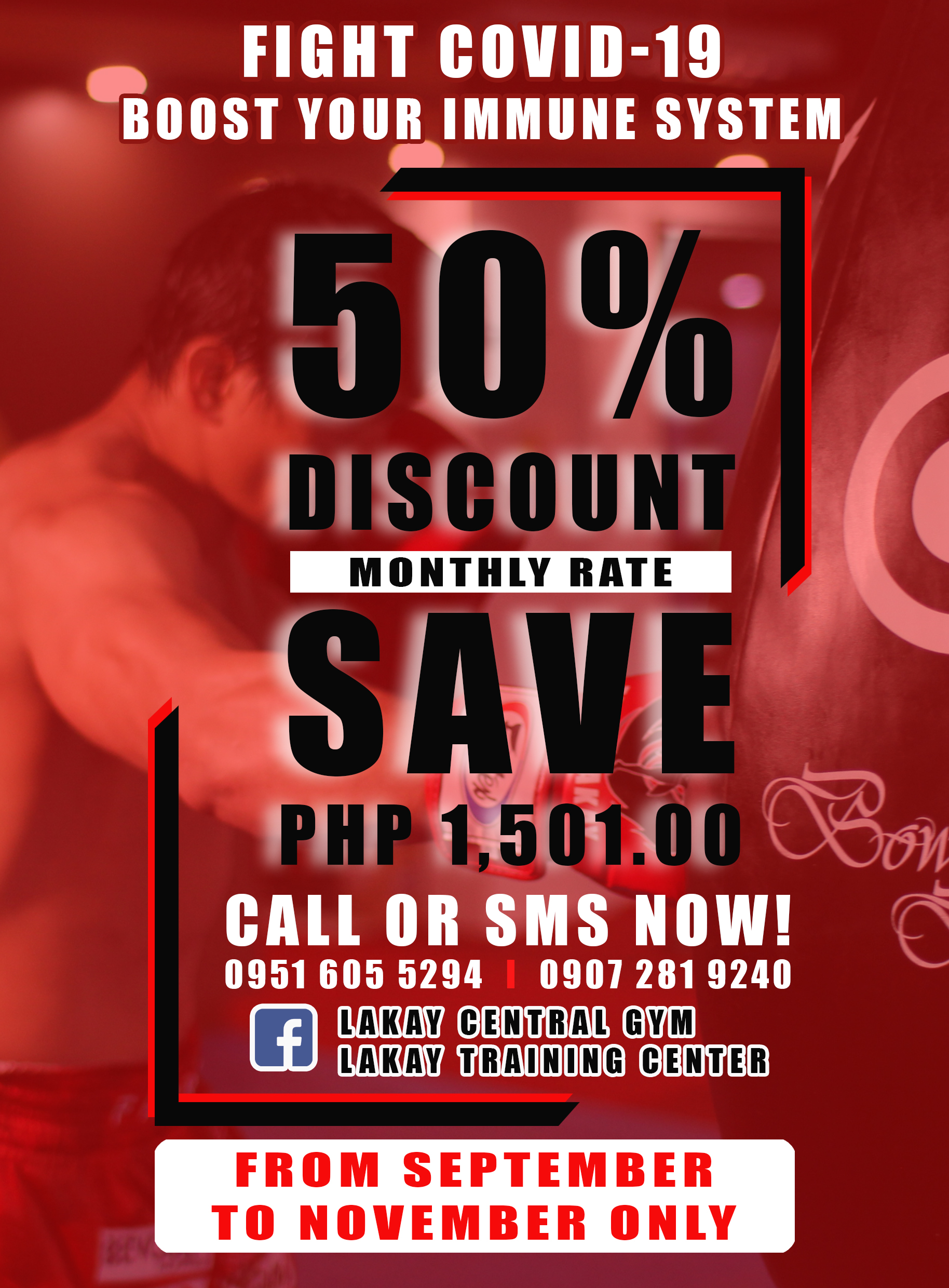 Enroll in our Team Lakay Group Class. 50% Discount!