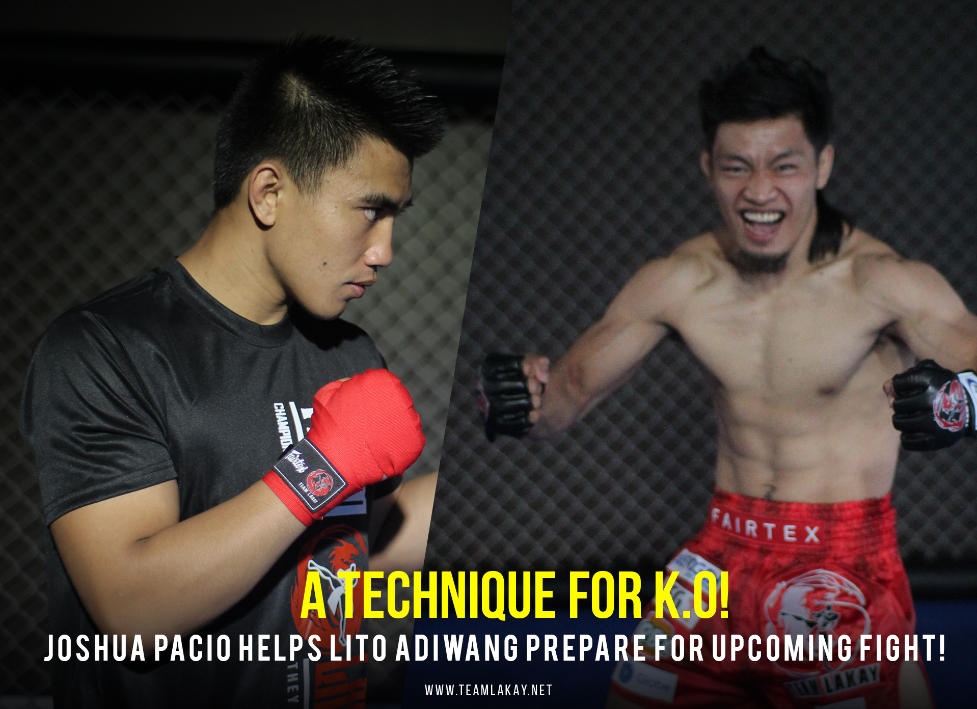 """""""Lito will pull one of the techniques we've been practicing"""", says Pacio as he helps Lito Adiwang on upcoming match with Jarred Brooks"""